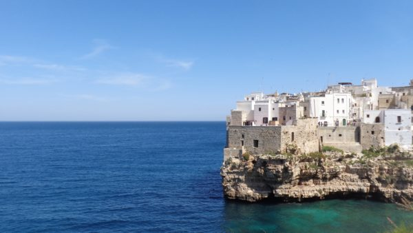 Cliffeside view of Polignano a mare