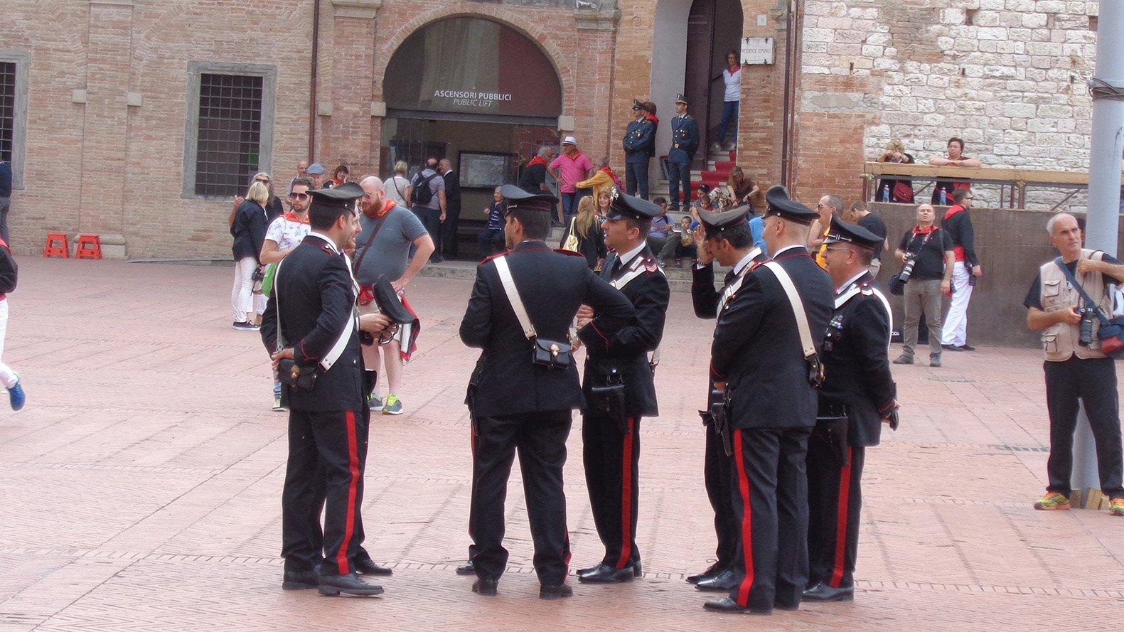 Gubbio on the day of Festa dei Ceri