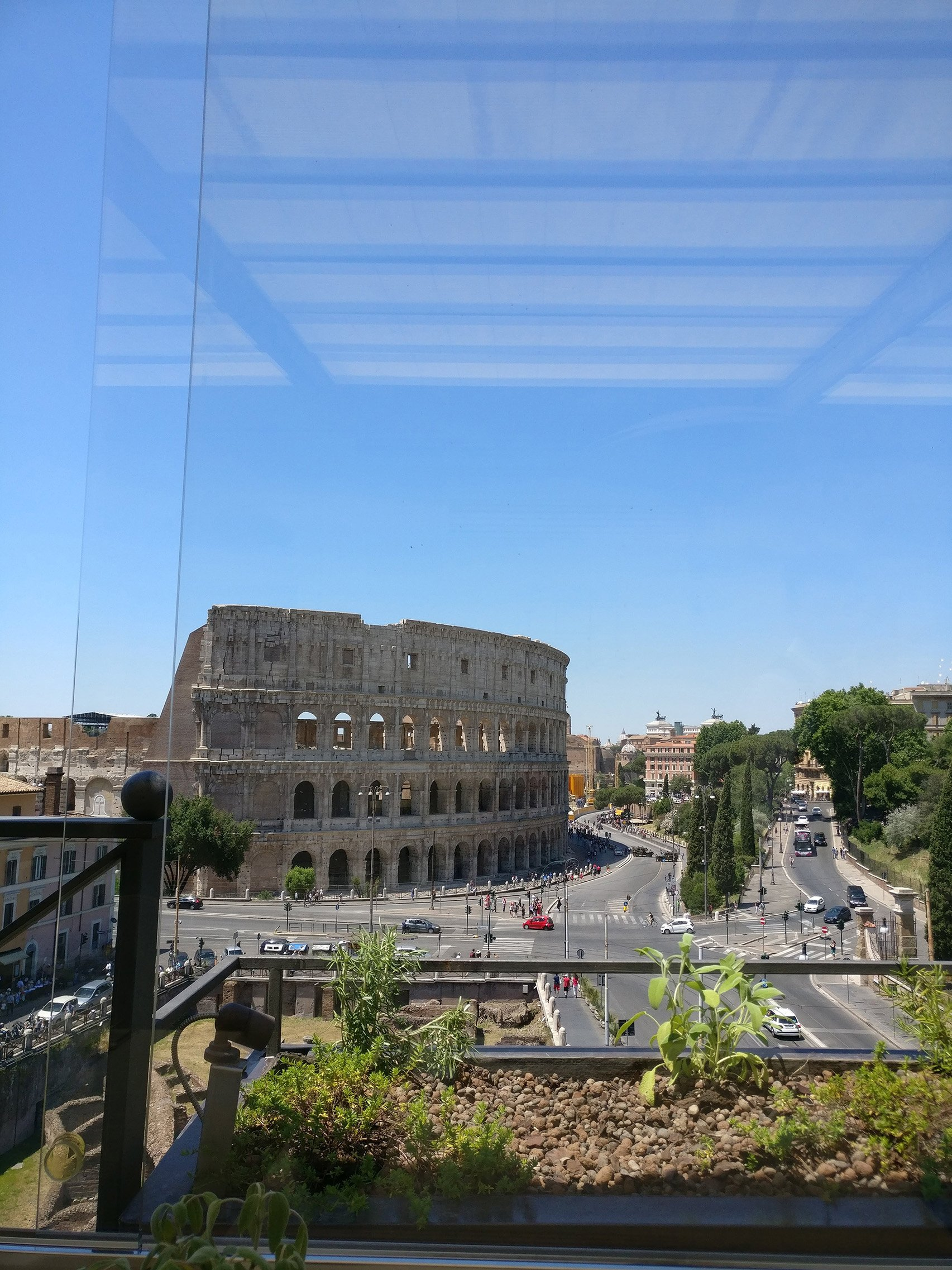 Lunch With A View At Aroma Restaurant Rome Italophilia