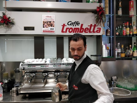 Exceptional service at caffe` Trombetta, Rome- a great place to have coffee near termini Rome