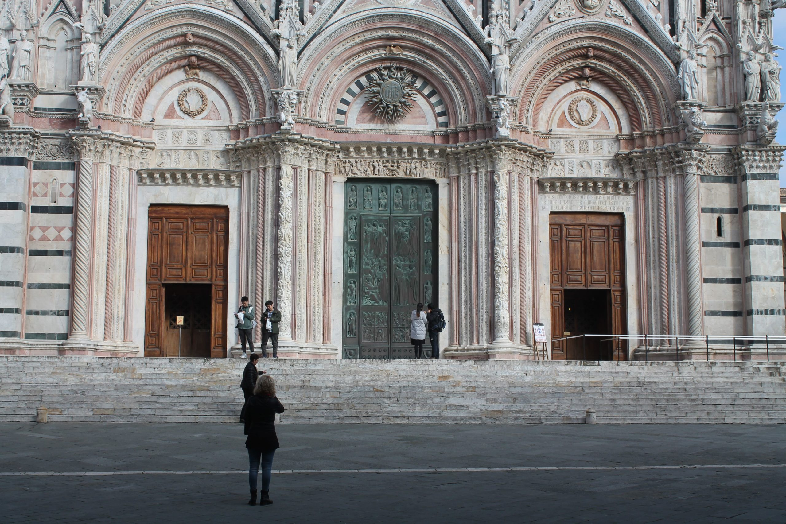 The Duomo of Siena or Siena Cathedral.